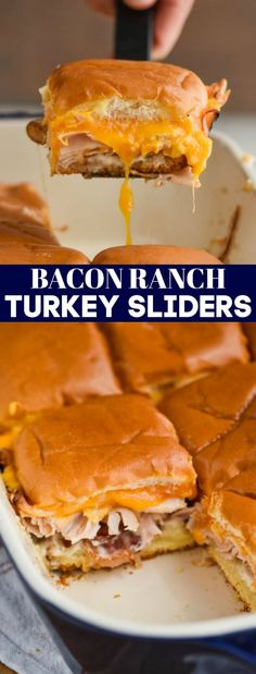 Hypoallergenic Pet Dog Food Items Diet Program These Bacon Ranch Turkey Sliders Are The Perfect Combination Of Flavors And So Easy To Throw Together Good Luck Only Eating One Appetizer Recipes, Snack Recipes, Dinner Recipes, Dessert Recipes, Oven Recipes, Easy Recipes, Dinner Ideas, Appetizers, Snacks