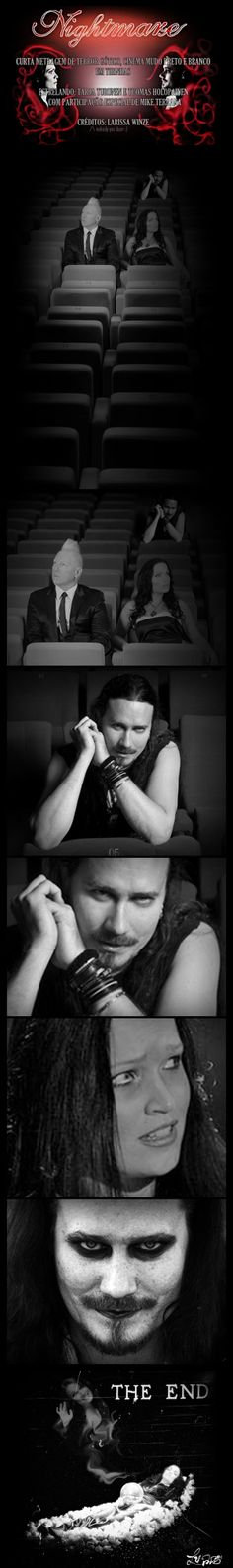 Nightwish / Tarja Turunen & Tuomas Holopainen  Nightmare - Tarja and Tuomas by LarissaWinze.deviantart.com on @deviantART