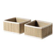 2-IKEA-SALNAN-SEAGRASS-BASKETS-HOME-ORGANIZER-STORAGE-BASKET-BOX-2PACK