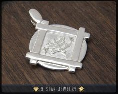 Sterling Silver 9 Star Bahai Pendant w/ Ring Stone Symbol by 9 Star Jewelry