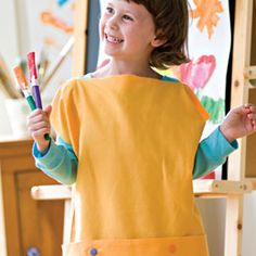 Super easy pillow case smock for arts and crafts kiddos.
