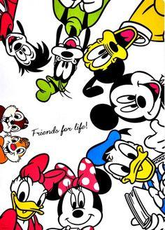 Disney Mickey Mouse Club-House Gang - Friends for Life Mickey Mouse Art, Mickey Mouse Wallpaper, Cute Disney Wallpaper, Mickey Mouse And Friends, Cartoon Wallpaper, Mickey Mouse Quotes, Walt Disney Characters, Disney Pixar, Donald Disney