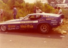 Funny Car Harry Schmidts blue max driven  by Raymond Beadle