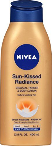 NIVEA SunKissed Radiance Fair to Medium Skin Gradual Tanner  Body Lotion 135 Fluid Ounce ** You can get additional details at the image link. #SkinCareforBody