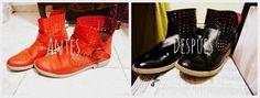como teñir zapatos en casa