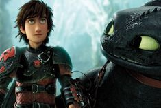 """Hiccup and Toothless in """"How To Train Your Dragon 2."""""""