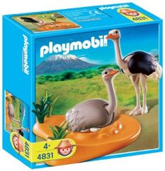 Amazon.com: Playmobil Ostrich Family with Nest: Toys & Games
