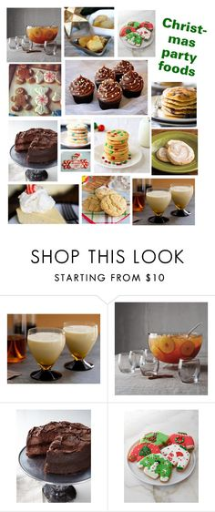 """""""Christmas party foods"""" by stellastar22 ❤ liked on Polyvore featuring interior, interiors, interior design, home, home decor, interior decorating, Sur La Table, French Toast and O' My Goodness"""