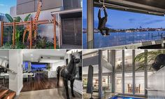 Mansion with giraffe, monkey, gorilla and horse sculptures hits market #DailyMail