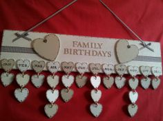 Stunning Family Friends Birthday Plaque Personalised with Everyones Date   eBay