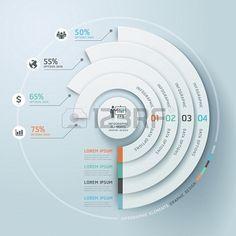 Infographies affaires cercle de style origami Banque d'images - 22121397