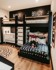 Modern Boys Rooms, Shared Boys Rooms, Bunk Beds For Boys Room, Bunk Bed Rooms, Modern Bunk Beds, Big Boy Bedrooms, Kid Rooms, Toddler Beds For Boys, Teen Boys