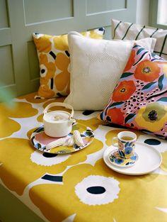 Investors – Marimekko as a company Marimekko, Handmade Home, Teapot Design, Brick Patterns, Floral Patterns, Textile Patterns, African Textiles, Nordic Design, Wooden Handles