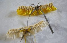 Wedding/Accessories/Yellow and ivory by lechoixdelamariee on Etsy