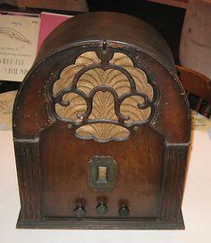 Antique 1931 Zenith LH Cathedral Wood Radio | eBay