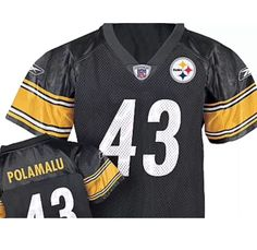 963bf375b6c Pittsburgh Steelers Troy Polamalu  43 Reebok 2T Toddler Jersey  40  Reebok  PittsburghSteelers  Troy