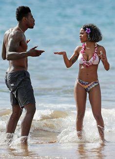 Iman Shumpert and Teyana Taylor at the beach in Hawaii Black Love, Black Is Beautiful, Black Men, Teyana Taylor Height, Black Couples, Cute Couples, Power Couples, Black Celebrities, Celebs