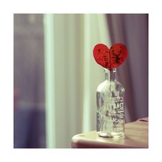 loveleaf Photography red cute Love heart bottle 500x500 Bookmarks #408857 - Picture For Me found on Polyvore