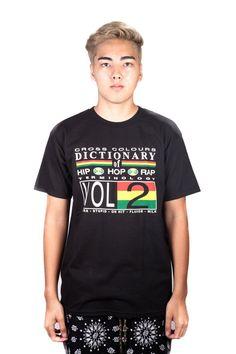 Cross Colours Hip Hop Dictionary T-Shirt - Black - Cross Colours