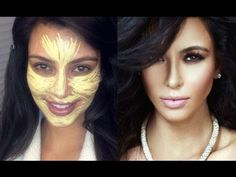 Goss make up tutorial - yellow primer Face Contouring, Contour Makeup, Contouring And Highlighting, Skin Makeup, Makeup Tips, Beauty Makeup, Hair Beauty, Makeup Videos, Makeup Tutorials