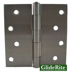 """4000-SN Pack of 12 4"""" Satin Nickel Door Hinges Square Corners by GlideRite hardware. $20.95. Pack of 12 - GlideRite brand interior residential steel full mortise Door Hinges.  Size 4"""" x 4"""" with square corners.  Fully assembled hinges with matching installation screws included.  Available in both Oil Rubbed Bronze and Brushed Satin Nickel finishes.  Lifetime Replacement Warranty"""