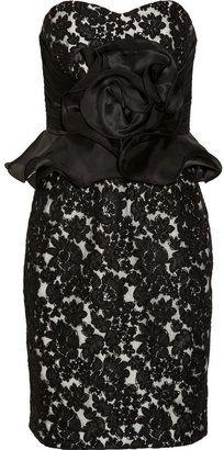 ShopStyle: Notte by Marchesa Ruffle-waist lace dress