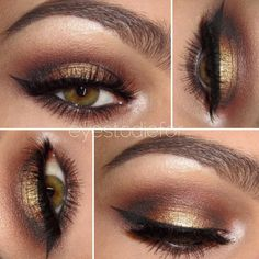 Get this fun look! You don't have to have hazel eyes for this to look great on you. It looks beautiful on all eye colors. See? I got you! ;) This look includes 5 beautiful eyeshadows that create this