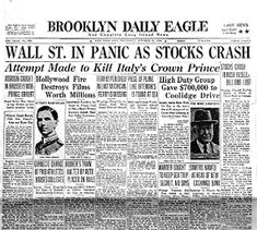 Wall Street market gave huge opportunities fro young men who had ambitions and skills. Wall St. stocks began to grow rapidly, they were sold extremely fast and in late October 1929 Wall Street Stocks had officially crashed.