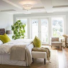 Dark Gray Tufted Headboard, Transitional, bedroom, Marsh and Clark