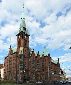Budynek Biblioteki Uniwersytetu Wrocławskiego przy ul. Szajnochy #Wroclaw