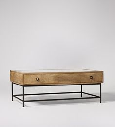 Swoon Editions Coffee table, contemporary style in mango wood and iron - £299