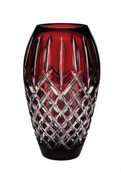 Waterford Crystal Araglin Ruby Vase ....crystal, my love for things that sparkle!