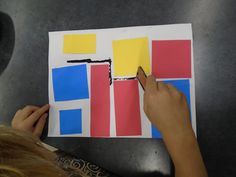 Kinder art students are studying the element of color in art class. We started by looking at the artist Piet Mondrian, and watched this f...
