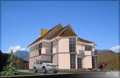 Коттедж в деревне: архитектура, жилье, 3 эт | 9м, минимализм, 500 - 1000 м2, фасад - кирпич, коттедж, особняк #architecture #housing #3floors_9m #minimalism #500_1000m2 #facade_brick #cottage #mansion arXip.com