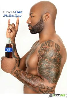 Share a Coke with a Sigma. Phi Beta Sigma, Alpha Phi Alpha, Tattoos In The Workplace, Calf Tattoo Men, Blue And White Outfits, Divine Nine, Sorority And Fraternity, Greek Life, African Beauty