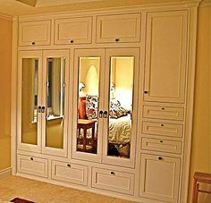 Adore this: Handmade Custom built-in his hers closets - master closet remodel idea? Bedroom Built Ins, Closet Built Ins, Master Bedroom Closet, Built In Wardrobe, Master Bedrooms, Pax Wardrobe, Wardrobe Storage, Closet Remodel, Build A Closet