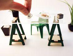 Miniature IKEA Inspired VIKA Desk Kit for 112 by AmazingMiniatures, $19.00
