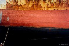 Man Painting Ship - Jay Maisel