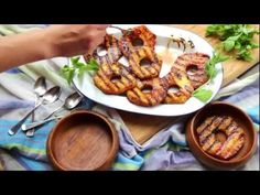 Ananas alla griglia con spezie e rum - videoricette di dolci di frutta - YouTube