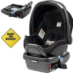 Peg Perego  Primo Viaggio 4-35 Car Seat w Extra Base and Baby on Board Sign  Onyx