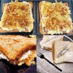 Dostali ste chuť na štrúdľu a nemáte čas kedy si ju upiecť? Vyskúšajte tento chutný  toast, ktorý chutí ako ozajstná štrúdľa.