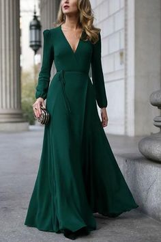 Long Sleeve Maxi, Maxi Dress With Sleeves, The Dress, Dress Long, Dresses Short, Trendy Dresses, Formal Dresses, Formal Wear, Winter Dresses