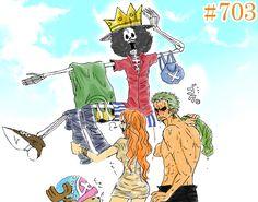 Roronoa Zoro Nami Brook Straw Hat Crew Pirates Mugiwaras One Piece