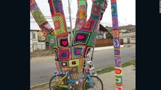 Chilean yarn bombers plot knitting revolution - CNN.com