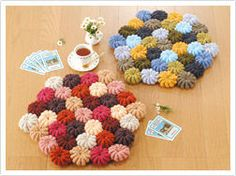 かぎ針編みのクッションカバー・座布団の無料編み図