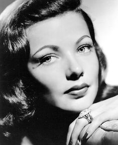 Gene Tierney made an overbite glamorous! She was also in 2 of my favorite movies Laura and The Ghost And Mrs Muir.