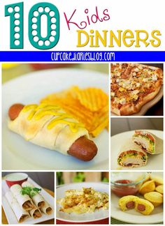 some are worth trying...since I'm eating light all the time i need back ups for the kids when they need something different.    10 Dinners the Kids Will Love | cupcakediariesblog.com