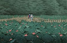 Amazon.com: Japanese Art Print - Benten Pond at Shiba by Kawase Hasui: Posters & Prints Japanese Prints, Japanese Art, Woodblock Print, Lotus, Poster Prints, Art Prints, Posters, Art Japonais, Shiba