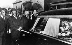 Dr. Martin Luther King, Jr. and associates lead a procession behind the casket of Jimmy Lee Jackson during a funeral service at Marion, Ala, Jackson was beaten by troopers and shot while participating in a peaceful voting rights march. He died eight days later. (AP Photo) Photo: Beaumont. This pin highlights the sense of duty or responsibility for King and other civil rights activists after Jackson's death. It poses the question: what is the duty or responsibility of witness?
