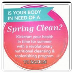 Mother Nature is acting up again and extending winter so I am going to extend my deal $25 OFF ALL qualifying SYSTEMS!!! Deal ends This Sunday 11.59 pm for all NEW clients that want to join the Spring Renewal Cleanse Group!! Nutritional Cleansing has changed my life; BEST decision I have made and now I have the honor of helping others achieve their goals and to feel their BEST! When the winter layers are peeled off you want to FEEL and LOOK amazing. Get HEALTHY and FEEL INCREDIBLE.........